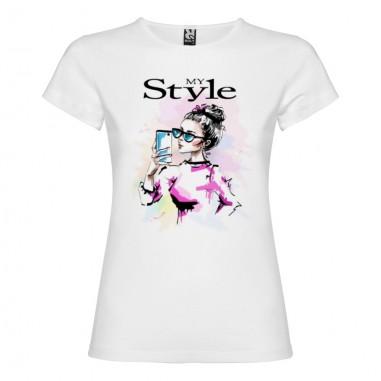 Дамска тениска с щампа - MY STYLE