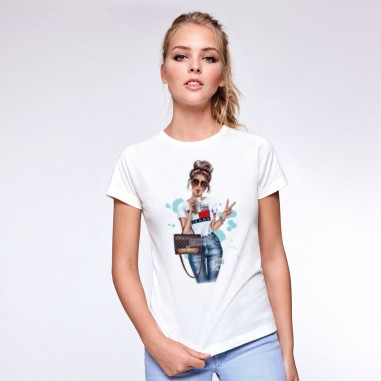 Тениска с момиче