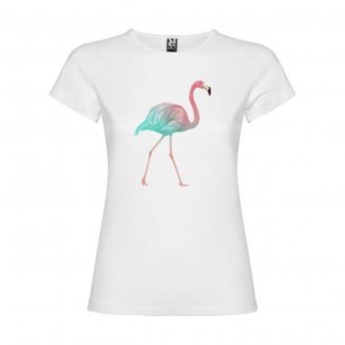 Дамска тениска с фламинго