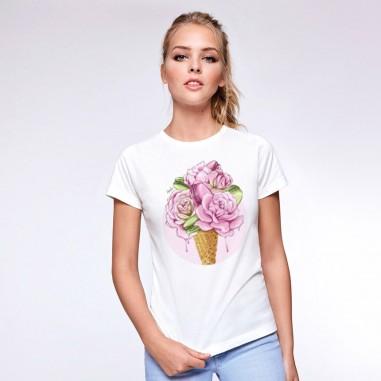 Дамска тениска с щампа Сладолед