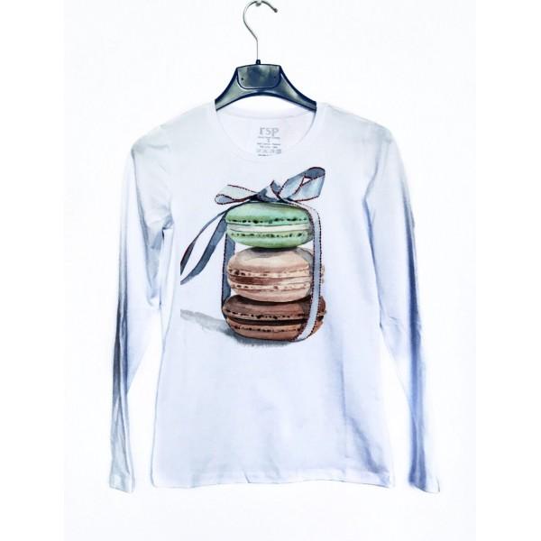 Дамска блуза с щампа - Френски сладки от категория Дамски блузи