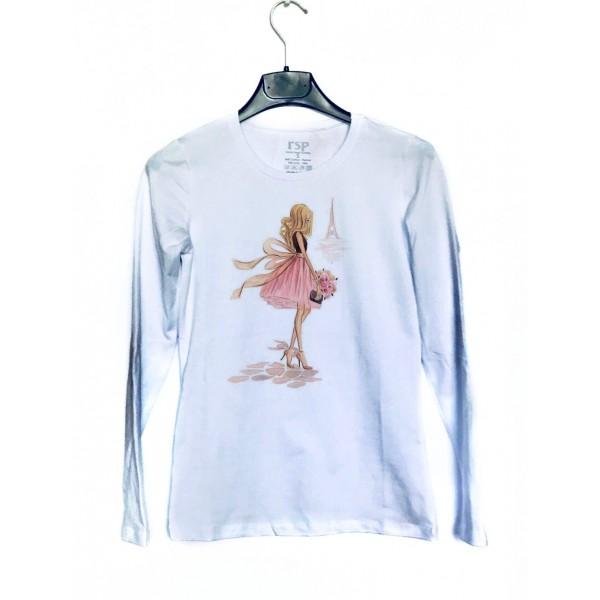 Дамска блуза с щампа - Момиче от категория Дамски блузи