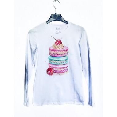 Дамска блуза с щампа Пастички