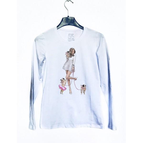 Дамска блуза с щампа от категория Дамски блузи