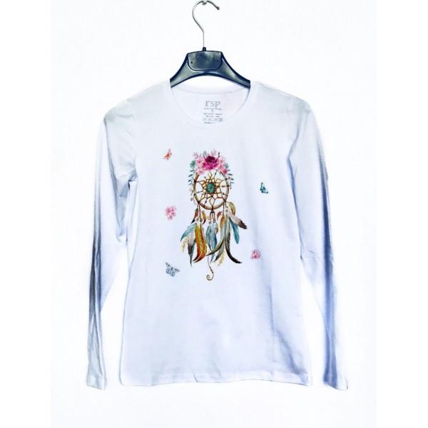 Дамска блуза с щампа - Капан за сънища