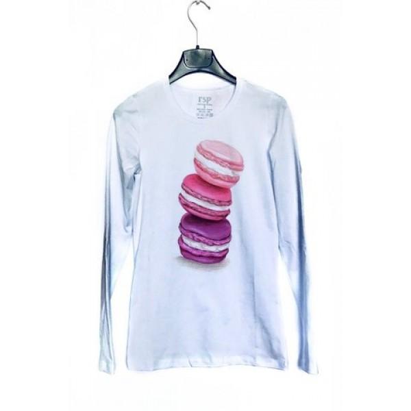 Дамска блуза с щампа - Пастички от категория Дамски блузи
