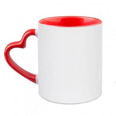 Чаша със снимка с дръжка сърце