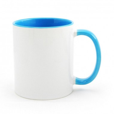 Чаша със синя вътрешност