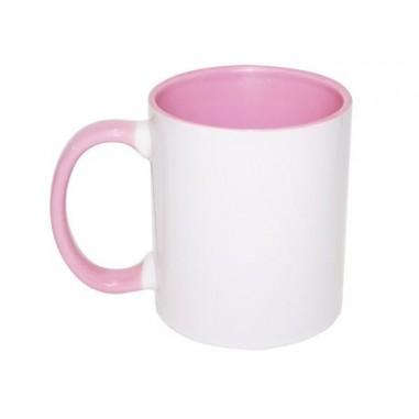 Чаша с розова вътрешност
